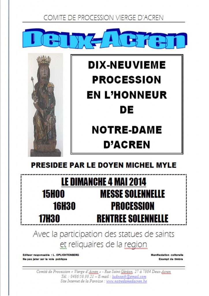 Affiche Procession 2014