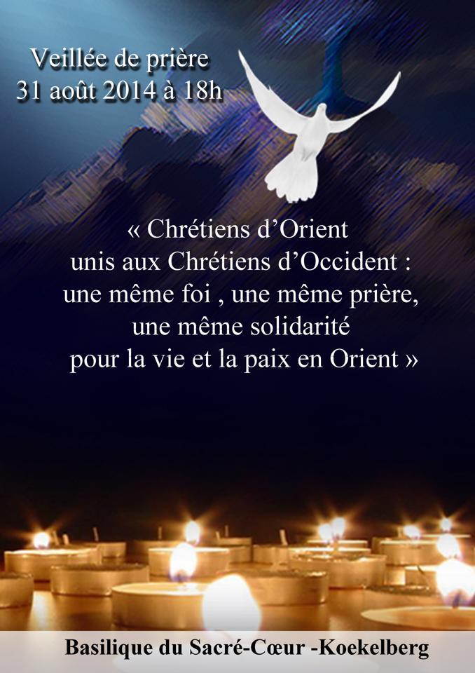 Affiche veillée de prières 31.08