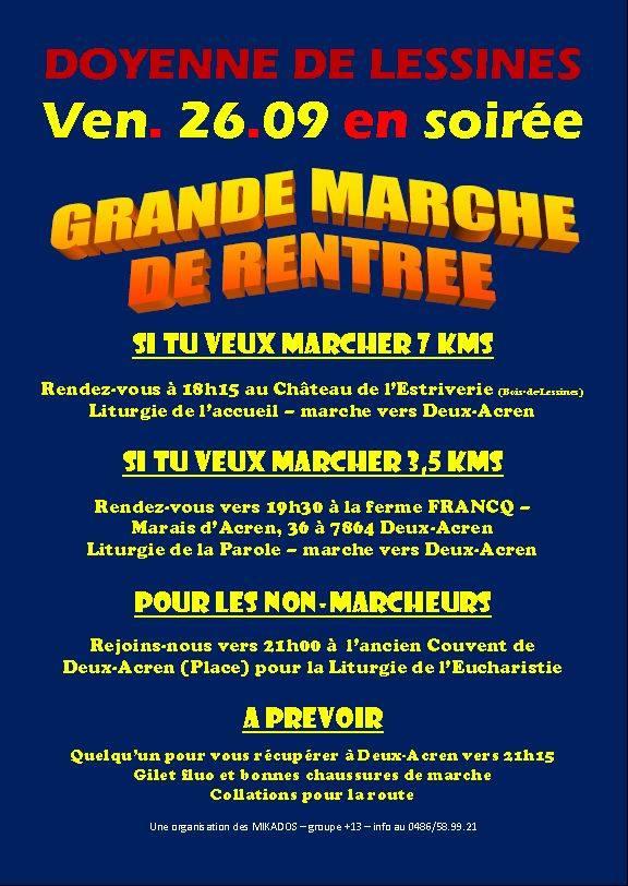 Affiche marche de rentrée 2014